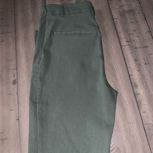 Army Green Pants with side zipper